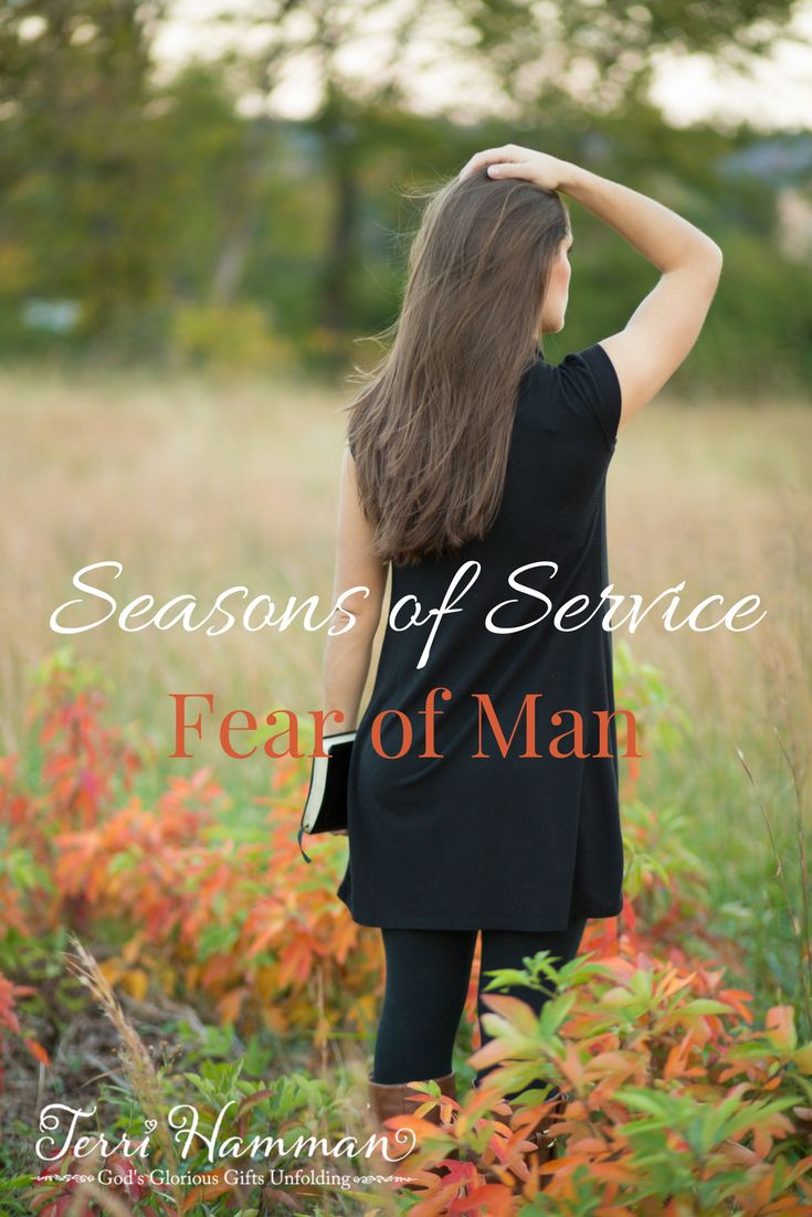 In the season of service, our faith will be questioned and we will have a fear of man. There are lessons to be learned in these tough times.