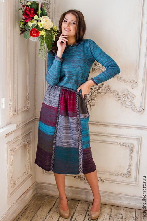 """Купить Костюм """"Бохо"""" - разноцветный, Вязаный комплект, вязаный костюм, бохо-стиль, бохо"""