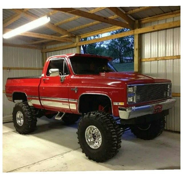 Lifted Red Chevy K10                                                                                                                                                                                 More