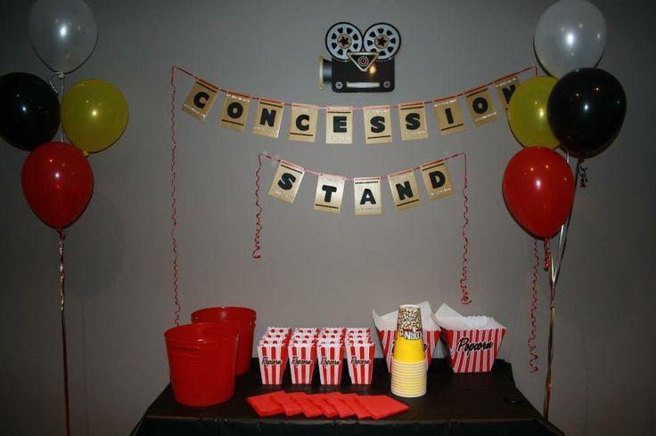 Concession stand movie night birthday theme #madewithlovebyjen
