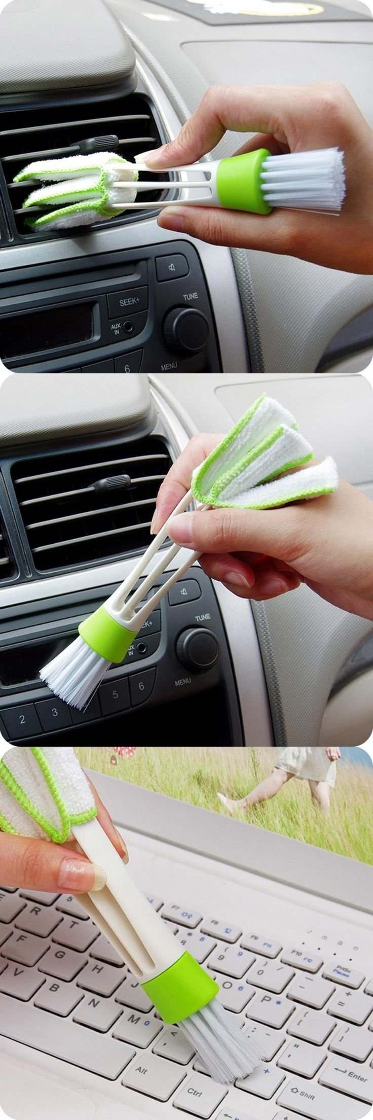 ISHOWTIENDA New Keyboard Dust Collector Computer Clean Tools Window Blinds Cleaner Levert Dropship Car Cleaning Tool