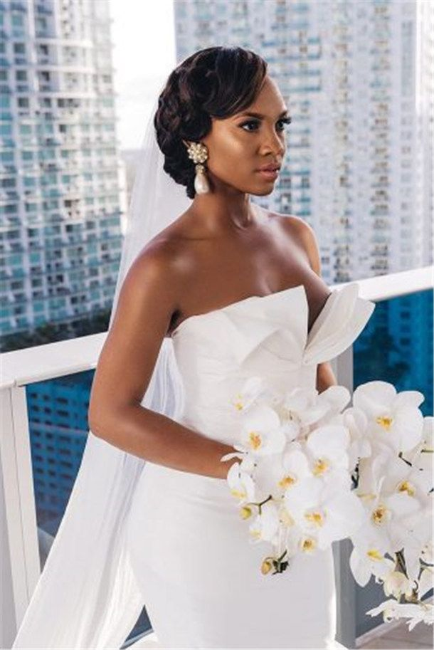 20 Wedding Updo Hairstyles For Black Brides Black Wedding
