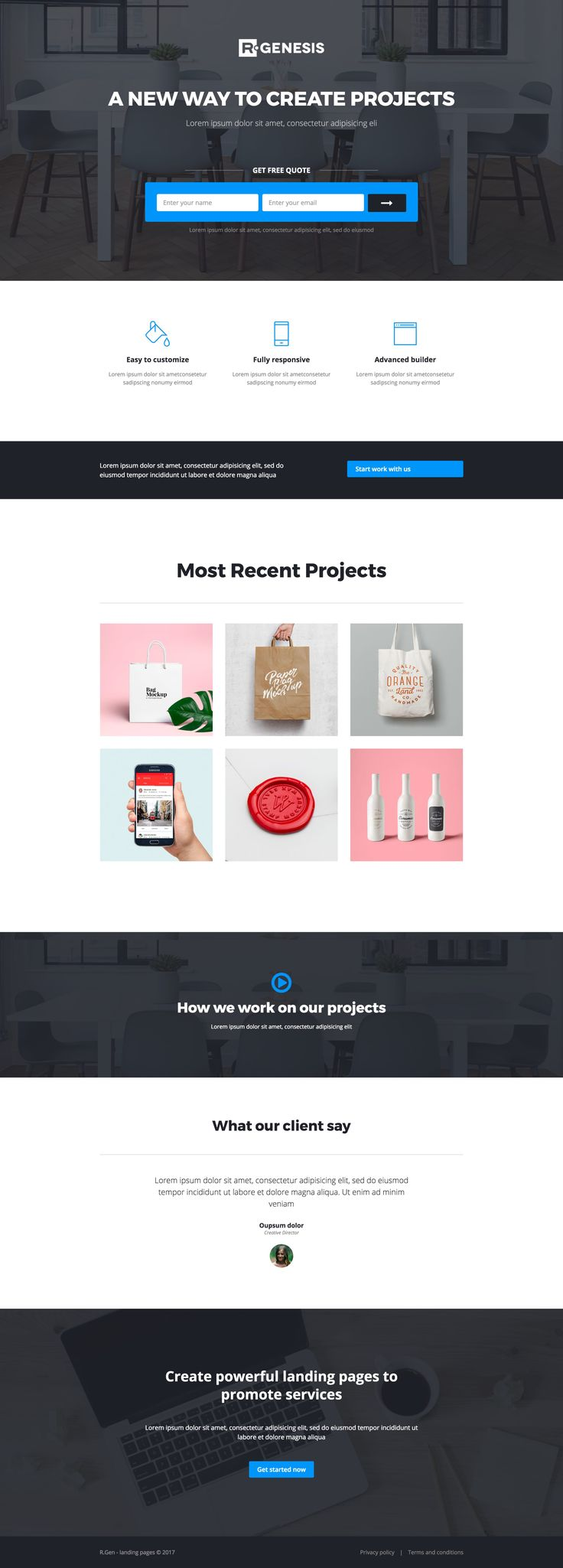 'LeadPack' is a bundle of 15 HTML Landing Page templates. Pictured here is my favorite layout called The Agency featuring a very clear lead capturing form above-the-fold. Other Landing Page layouts cover medical, travel, apps, books, portfolios, construction and even education layouts. What's great to know is there are over 50 modular 'block elements' that allow you to construct any sort of Landing Page you may need - all for only $14!