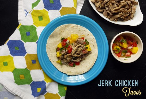 Jerk Chicken Tacos, yes!: Chicken Tacos, Calorie Recipes, Calories Recipes, Mango Salsa, Mccormick Recipes, Salsa Taconight, Tacos Mango, Jerk Chicken, Healthy Tacos Recipes