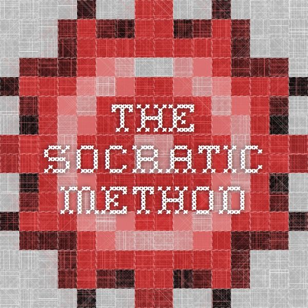 the use of the socratic method for the search of truth on ideas and teachings