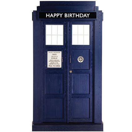 This Official Doctor Who Tardis Birthday Card is out of this world!! From Danilo.com at http://bit.ly/DrWhoCards