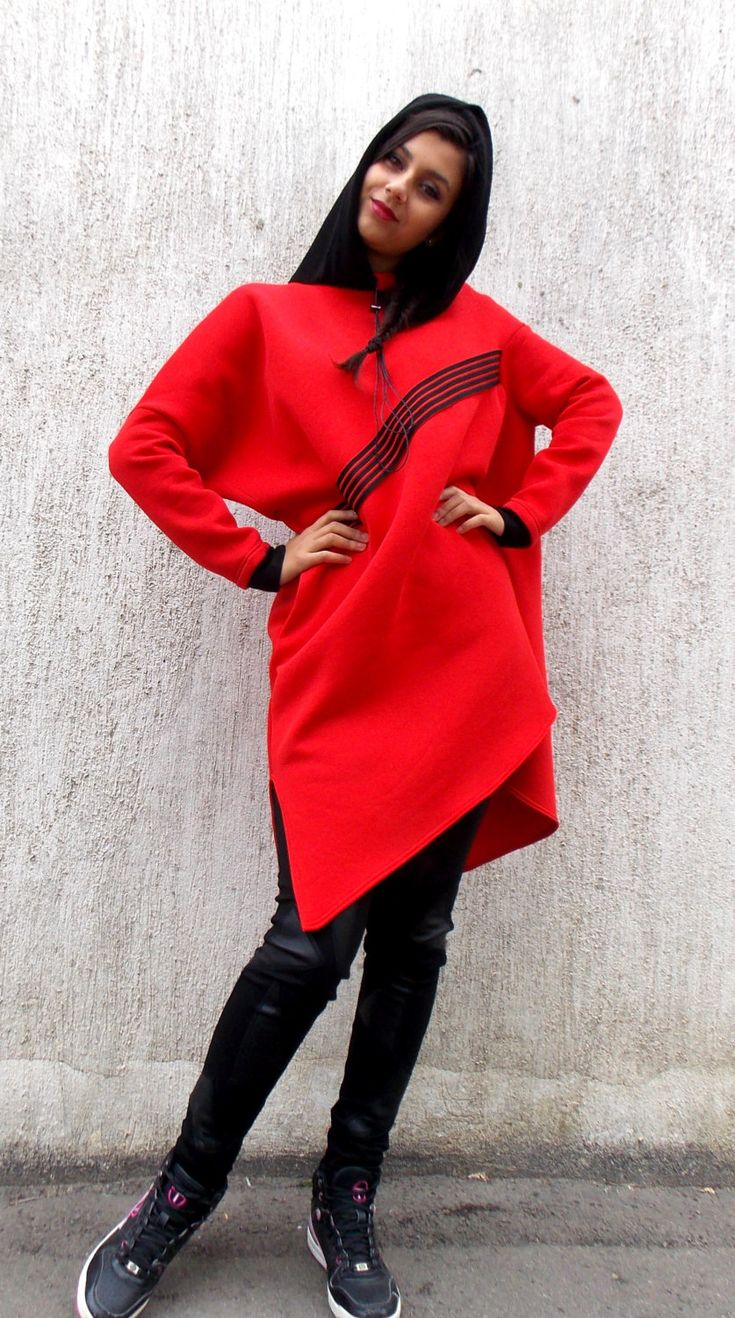 New in our shop! Red Hooded Jumper Dress, Red Hoodie, Hooded Fleece TDK96, Red Hooded Sweatshirt by TEYXO https://www.etsy.com/listing/208877103/red-hooded-jumper-dress-red-hoodie?utm_campaign=crowdfire&utm_content=crowdfire&utm_medium=social&utm_source=pinterest