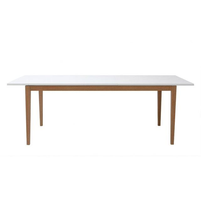 awesome salle manger table manger design extensible blanche pieds bois 180 260cm