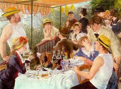 Pierre August Renoir. Le dejeuner des canotiers.1881. (Impresionismo)