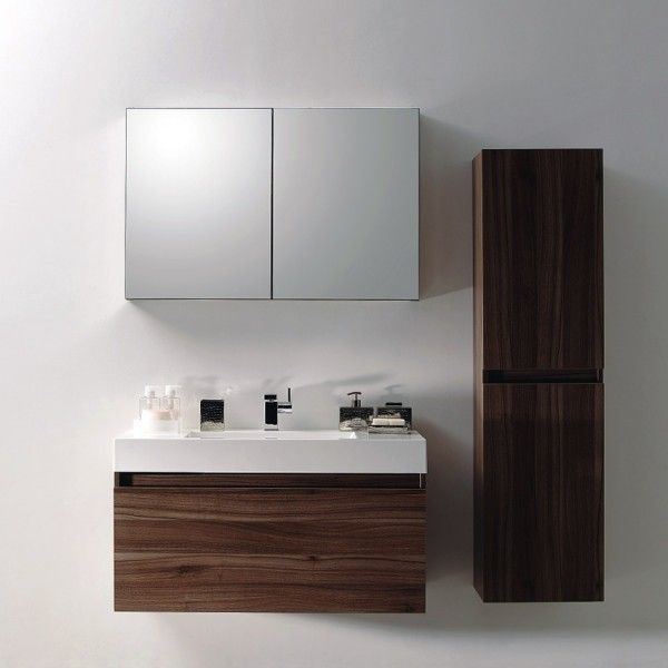 Badmöbel Set A1000 walnuss günstig online kaufen
