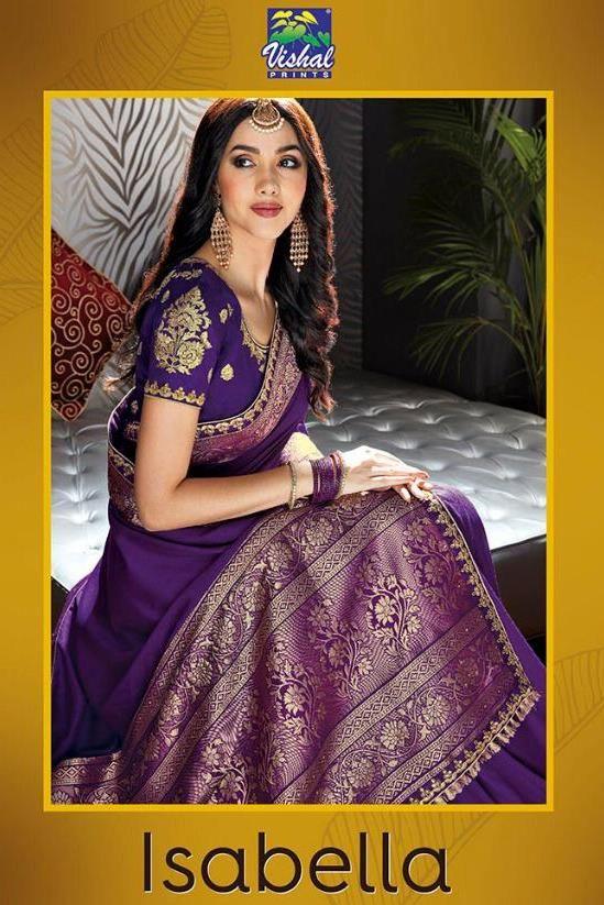 db0703793 vishal prints isabella 13059-13070 series rich pallu silk sarees wholesale  supplier in surat - Krishna Creation