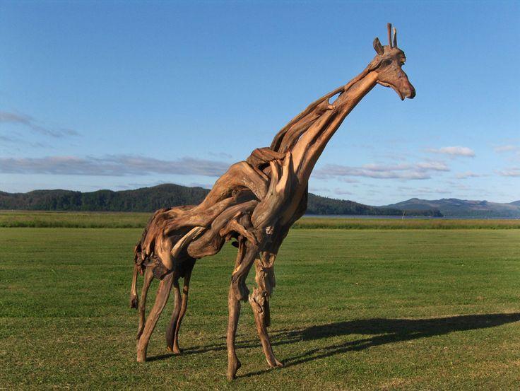 best Driftwood Art - Animals  on Pinterest
