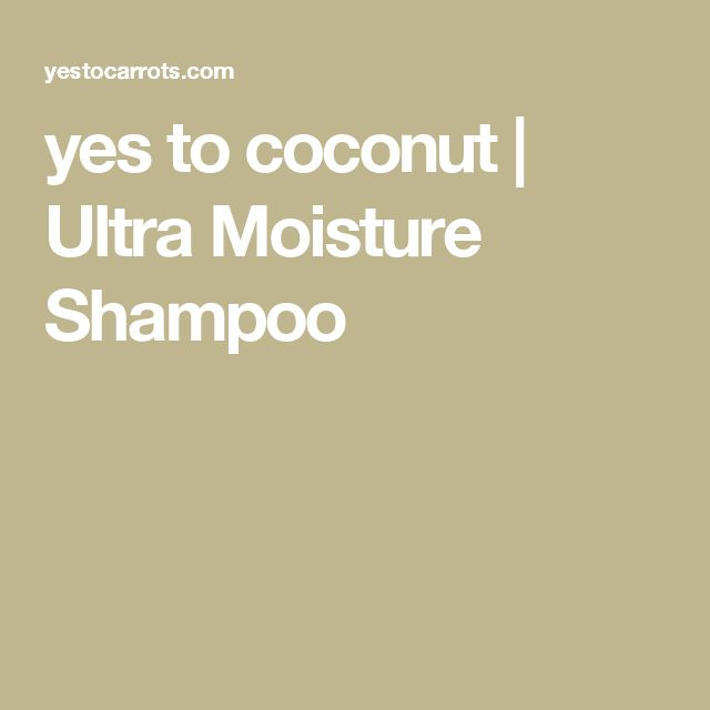 yes to coconut | Ultra Moisture Shampoo
