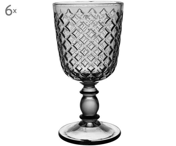Cheers! Stoßen Sie an mit Weißweinglas Nicola (6er-Set) in Grau. Bestellen Sie ausgefallene und dekorative Gläser von COTE TABLE jetzt auf >> WestwingNow.