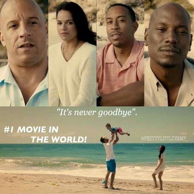 "Vin Diesel Michelle Rodriguez Chris ""Ludacris"" Bridges & Tyrese Gibson Looking on Paul Walker  at the end of the movie so sad"
