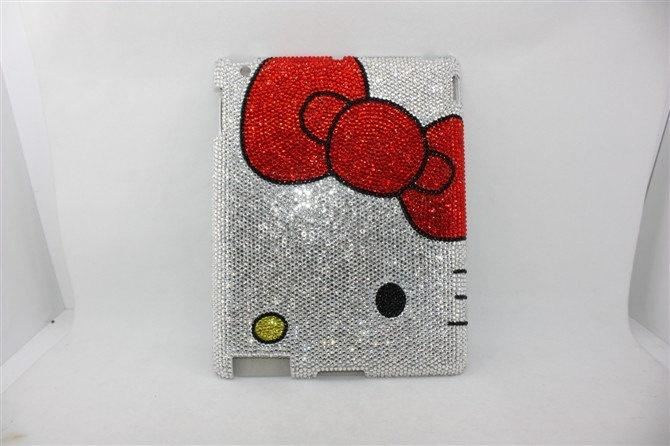 rhinestone  hello kitty ipad 2 case ipad 2 cover. $60.00, via Etsy.