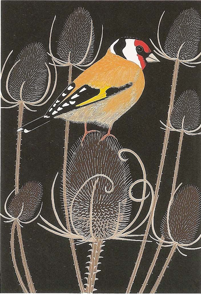 "Goldfinch card by ""Bird"""