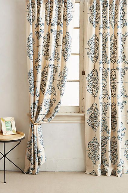 Anthropologie Embroidered Medina Curtain