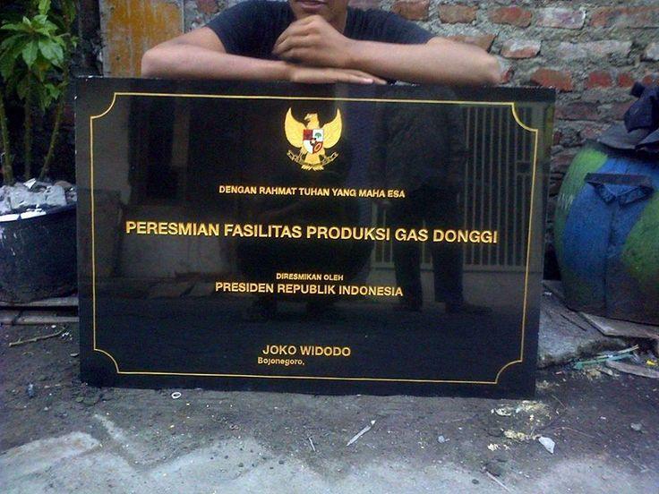 Prasasti pereasmian yang di resmikan oleh Bpk. Presiden republik indonesia   Kontak kami : 081357603030
