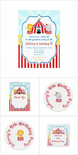 Birthday Party Set 21 - Big Top Circus Carnival