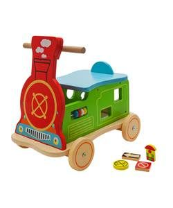 #argos #ireland Chad Valley Wood Shed Ride On Train.: Help your little ones improve their co-ordination and mobility with this wooden…