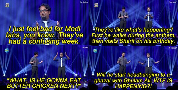 """On the PM's fans. 