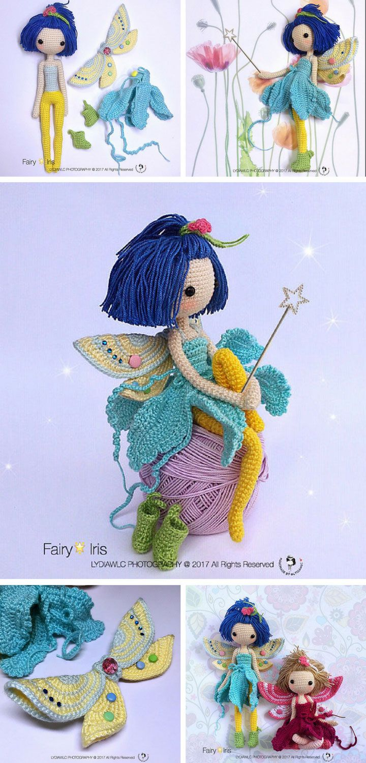 Iris the Crochet Fairy Doll is Waiting to Share her Magic