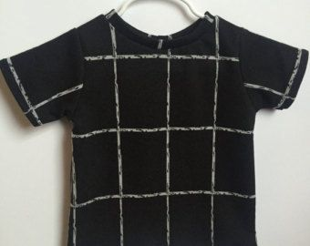 hip baby clothing - hip toddler clothing - black and white shirt