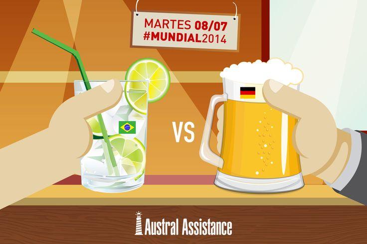Caipirinha Vs. Cerveza #Mundial2014 #Semifinal #Brasil #Alemania ---> Austral Assistance - Asistencia al viajero, aquí y en todo el mundo. www.australassistance.com