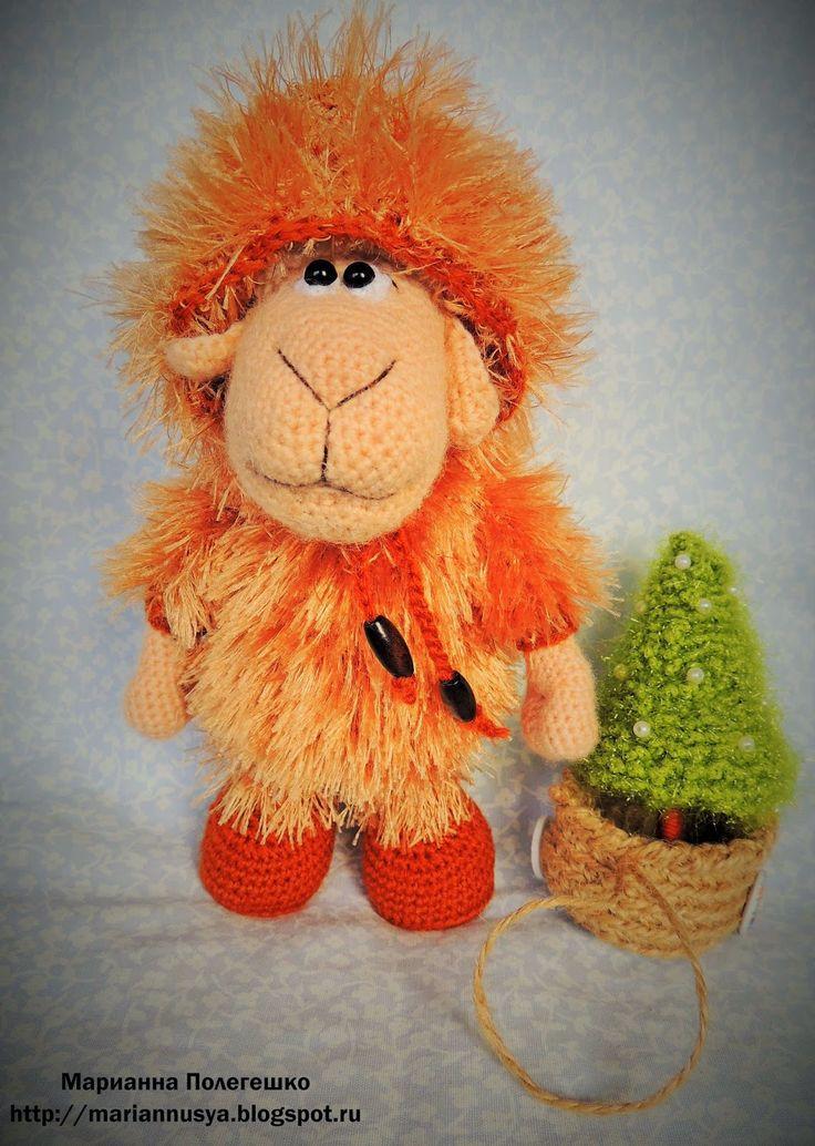 Вязалки, вышивалки и другие вытворялки........ Марианны( mariannusya): Овечка к новому году готова -