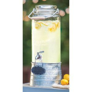 Farmhouse Glass Beverage Drink Dispenser