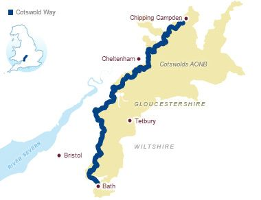 Overview of the Cotswold Way - 100 miles of trail that takes 7-10 days to walk. Yes, please.