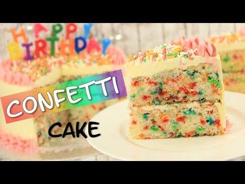 Confetti Cake - Konfetti Kuchen - YouTube