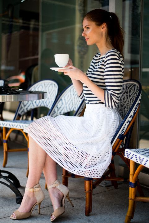 Reminiscence of my #Parisian days http://www.the-a-list-blog.com/fashion/afternoon-stripes/