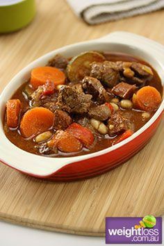 Slow Cooker Spanish Lamb with Beans. #Healthy Recipes. weightloss.com.au
