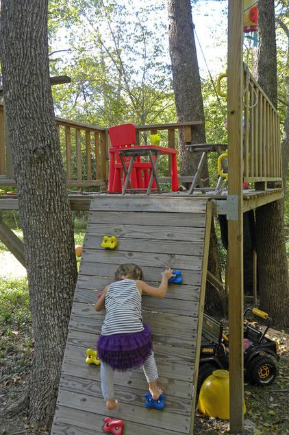 Even a simple tree house can be every-day fun for kids...
