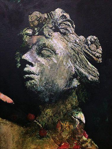 Flora I Watercolour, statue, art, Dartington gardens