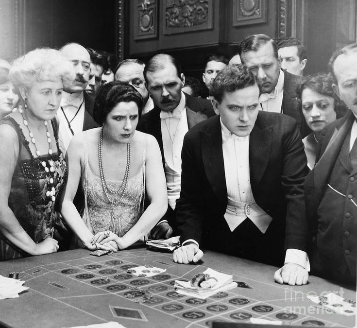 Silent Film Still Woman By Granger: Silent Film Still: Gambling By Granger