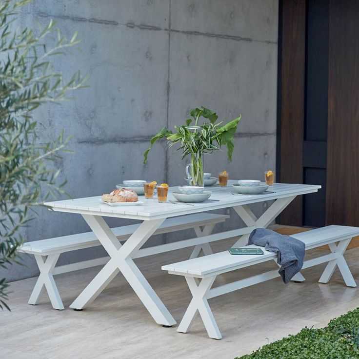 Blake 2400 Table with 2 Blake Benchs Package - Packages - Outdoor Early Settler