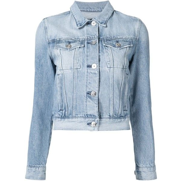 3X1 Denim Jacket ($147) ❤ liked on Polyvore featuring outerwear, jackets, tops, coats, coats & jackets, blue, denim jacket, jean jacket, blue denim jacket and blue jackets