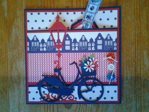 Card with dutch colors