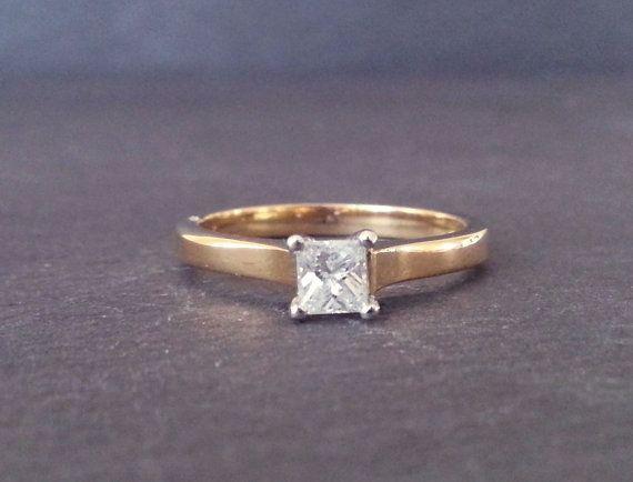 Princess Cut Solitaire Diamond Engagement Ring Single by ArahJames