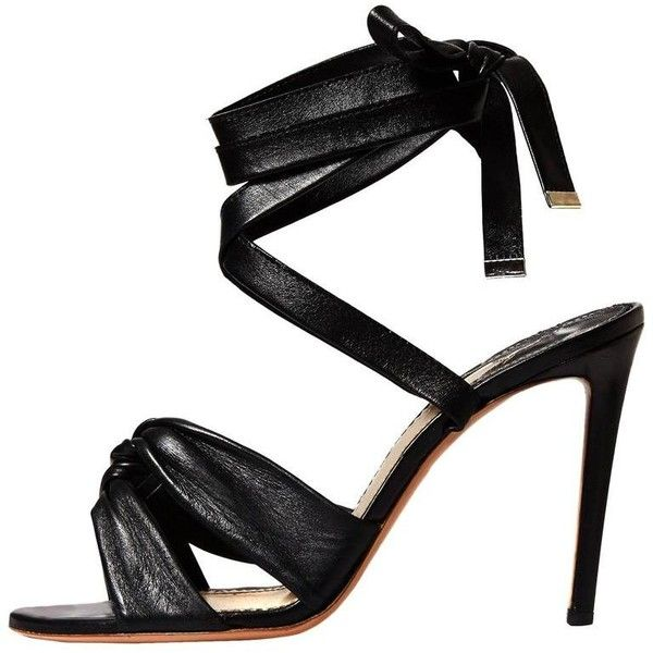 Preowned Altuzarra New Sold Out Black Leather Evening Sandals Heels In... ($925) ❤ liked on Polyvore featuring shoes, sandals, black, heels, leather high heel sandals, leather sandals, black high heel sandals, black evening shoes and high heeled footwear