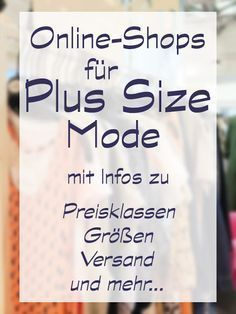 Plus Size Online Shopping Guide mit Shops aus Deut…