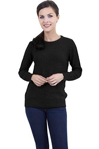 Women Round Neck Fine knit long sleeve sweater (black) SY America http://www.amazon.com/dp/B00Q5OQDKG/ref=cm_sw_r_pi_dp_WD-pwb1M5CNVN