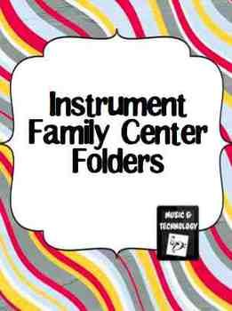 Instrument Family Folder (Brass, Woodwind, Percussion & String)- This can be a centers activity or an individual activity. Students match the name of the instrument to its' picture and then students try and answer the questions.