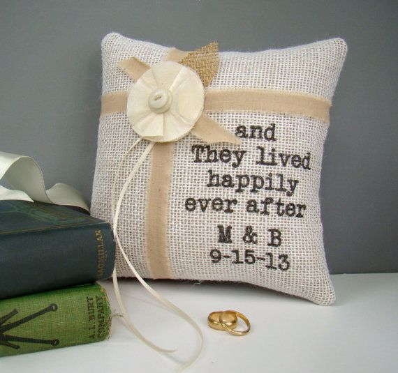 Hey, I found this really awesome Etsy listing at http://www.etsy.com/listing/151949671/personalized-burlap-ring-bearer-pillow