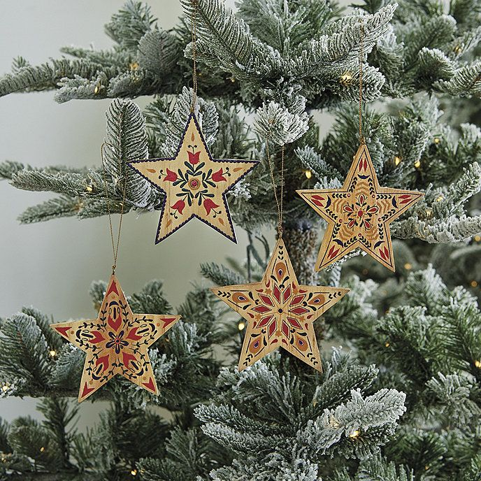 Nordic Star Wooden Christmas Ornaments In 2020 Scandinavian Christmas Ornaments Nordic Christmas Decorations Christmas Ornaments