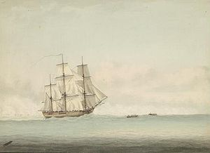 Endeavour she briefly returned to naval service as a troop transport during the American Revolutionary War and was scuttled in a blockade of Narraganset Bay, Rhode Island, 1778.