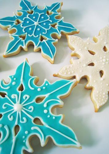 Gorgeous Snowflake Cookies